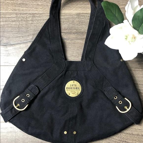 """Diesel Handbags - Diesel Black Boho Bag """"1978"""" EUC"""